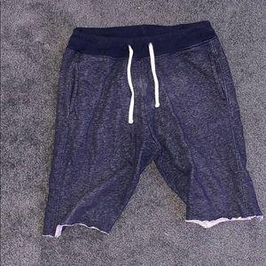Ripped H&M Navy sweat shorts